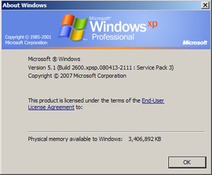 About Windows Information Box.